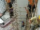 Hong Kong Uses Bamboo Scaffolding