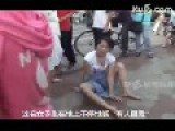 Woman Stripping Herself In The Street