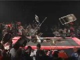 Amateur Wrestling - Chairs Get Thrown At Competitor