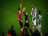 Cambiasso's Horror Tackle And Red Card Vs Inter
