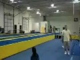 Gymnast Does Amazing Backflips