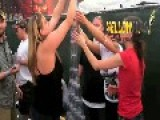 A Rude Guy Kicks Over A Plastic Cup Pyramid During An Incubus Concert That Some Girls Spent Hours Putting Together. Join