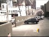 Honolulu Heli Crash - Motion Footage Of Cctv