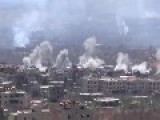 20 Smoke Plumes After SAA Shelling Of Fsa Positions In Al-Zabadani