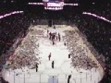 20,000 Teddy Bears Are Thrown Onto The Ice