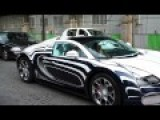 RARE Bugatti Veyron L'Or Blanc On Road Start Up And Accelerations
