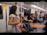 Girl Dances In Subway To Try To Find A Boy Friend