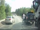 Roadrage Causes A Man With One Good Arm To Smash A 20 Ton Truck With A Baseball Bat!!!