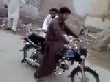 Stupid Bike Stunt From Pakistan