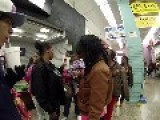 ATL SECURITY GUARD DARIEN LONG METRO MALL '' I'LL KNOCK YOUR ASS BACK TO NEWARK