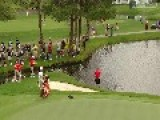 Ridiculous Golf Shot From The Water