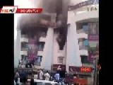 4 Burned Alive In Bank Blaze
