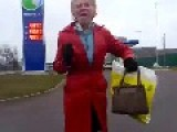 Crazy Old Lady Dancing In Lithuania