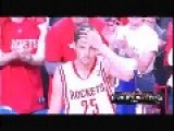 Chandler Parsons Leaves Rockets Fan Hanging On Fist Bump