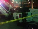 Valet Crashes Maserati Under Jeep And Into $200,000 Porsche