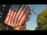 #Occupy Oakland Protesters Burn Flag, Sing 'F**k You, America