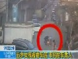 Chinese Girl Rescued From Underneath Car, Caught On CCTV Wenzhou,China