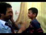 Father And Son Playing Slap Game