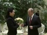 Putin Greets Chinese President And First Lady