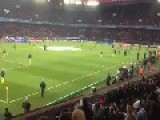 Alves Messi Warm-up Before PSG-FCB