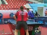 Amazing Behind-the-back Ping Pong Shot