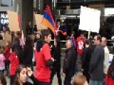Arab Americans Join Armenian Protest March In Southern California