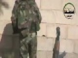 Assad Thug Urinating On Innocent Civilian Houses