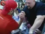 Arm Wrestling 375 Pound American Against Turkish Guy