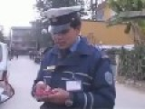 A Repost Of Nepali Female Police Officer Getting Hit While Doing A Regular License Check