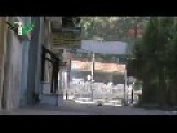 Assad Tank Fires Down Street Gets Slammed With FSA RPG