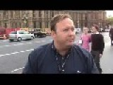 Alex Jones In London Protesting 7th July Bombings