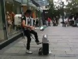 Awesome Street Performer Does The Final Countdown