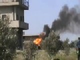 Another Video Of The FSA Tank Destroy By Syrian Arab Army Aftermath