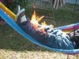 Bravo, Lost A Bet.. Set Himself On FIRE