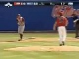Baseball Batter Fakes Being Hit By Ball. With Slo-Mo Goodness