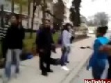 Black Girls Fight On The Street Like Crazy