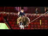 Bears Walk Tightrope In Russian Circus