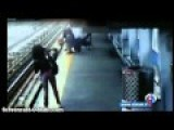 Baby Saved After Stroller Falls Onto Train Tracks