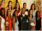 Basketball Center Stefanie Dolson Gave The Bunny Ears To The President Barack Obama - Video Vimeo Vedat şafak