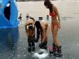 Bikini Ice Fishing - The Greatest Sport Known To Man