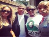 Beyonce, Jay Z Silently Join Trayvon Martin's Mom At Rally...Silently?