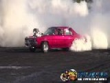 Crazy Burnout. Burns The Tires Right Off