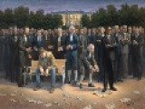 Controversial Artist Depicts Obama Trampling The Constitution