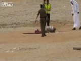 Close Up Of A Recent Saudi Beheading By Sword Warning Graphic