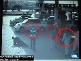 CCTV Footage Robbery At A Petrol Pump In Gujranwala Punjab Pakistan