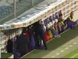 Coach Delio Rossi Beats Adem Ljajić On Fiorentina Vs. Novara