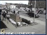CCTV: Shooting Outside Lima Police Department