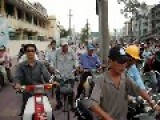 Crazy Traffic In Saigon Vietnam