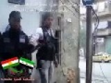 Corner Shooting In Aleppo By Kurdish Fsa Group