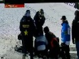 Calem Moore Snowmobile Crash 2013 Xgames